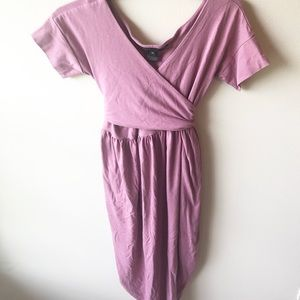 Marc Jacobs Mauve Pink Wrap Midi Dress